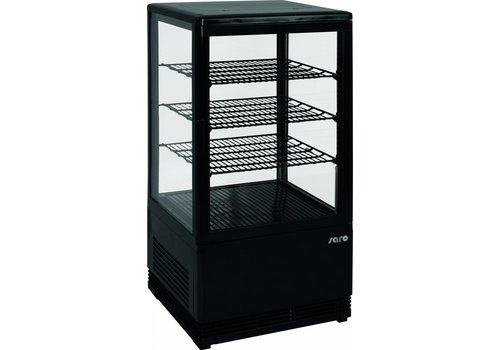 Saro Mini-Display Kühlschrank Schwarz | 78 Liter