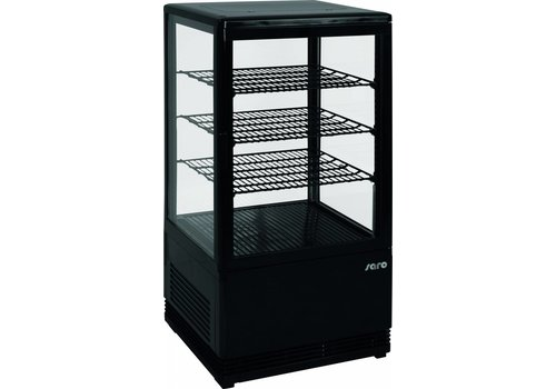 Saro Mini refrigerated display case Black | 78 liters