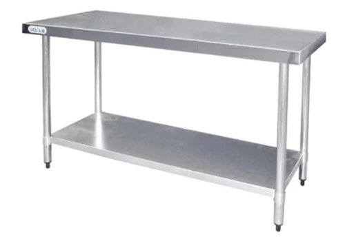 Vogue Stainless steel work table with shelf | 60 cm deep 5 formats