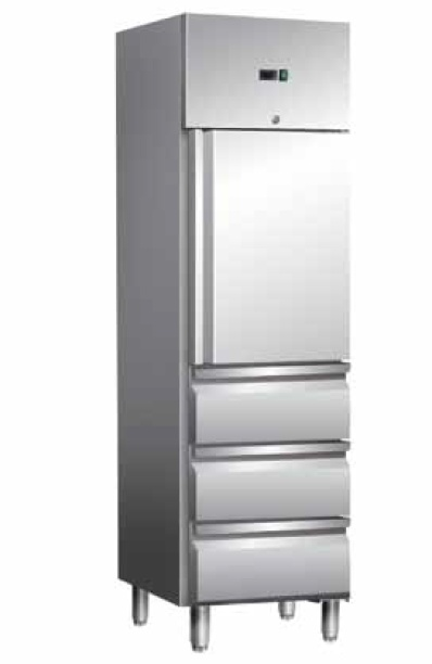 Gastronomie Kühlschrank Mit 3 Schubladen 350 Liter 48x70x201cm