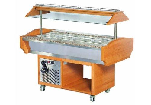 Combisteel Horeca Salade Bar - 151x90x87/132 cm