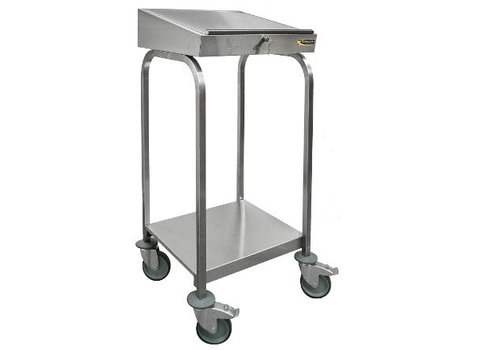 HorecaTraders Stainless steel desk with wheels