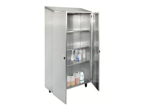 HorecaTraders Stainless steel Shelf cabinet 2 doors