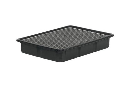 HorecaTraders Plastic drip tray with grate 80x60x13 cm