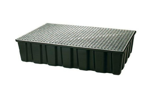 HorecaTraders Plastic drip tray with grate 122x82x27 cm