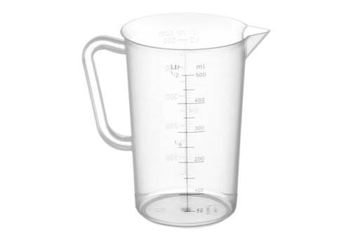 Hendi Measuring cup polypropylene   5 formats