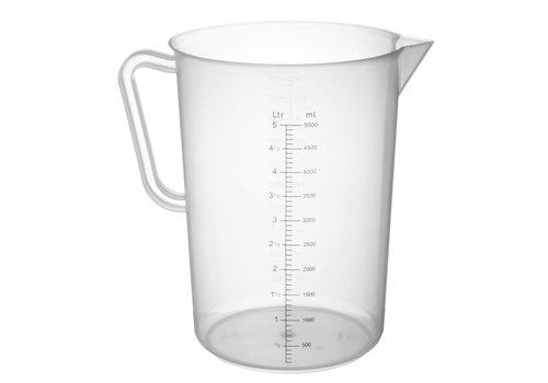 Hendi Maatbeker Kunststof 5 liter