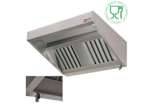 Diamond Stainless steel wall extractor hood 250x95x40cm