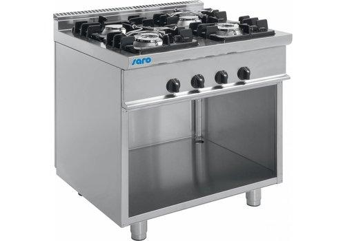 Saro Horeca Gas stove Wouter | 2 x 4.5 kW and 2 x 7.5 kW