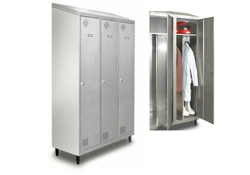 HorecaTraders Stainless steel clothing locker