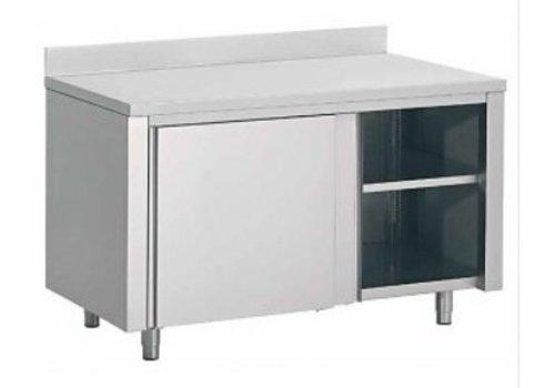 Combisteel Ladenkast met Spatrand RVS | 180x70x85cm
