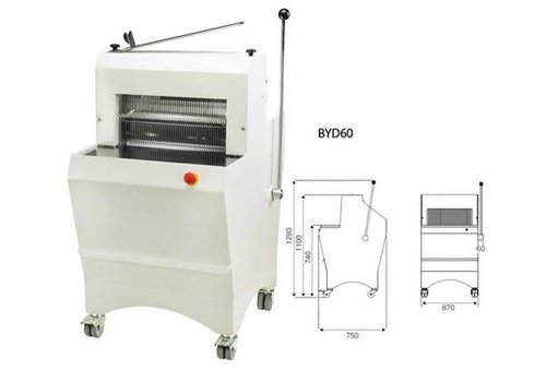 Sofinor Broodsnijmachine | Semi-Automatisch | Brooddikte 11-16mm | 490W