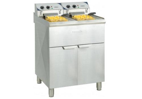 Casselin Electric fryer | 2x 10 liters Stainless steel