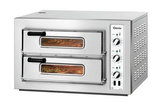 Bartscher Pizzaoven 2 kamers 6000 Watt | 8 Pizza's