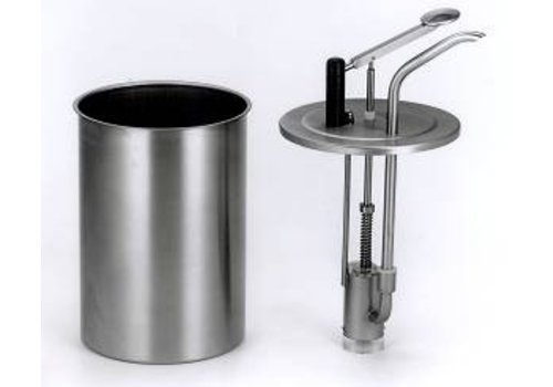 Bereila Professional stainless steel sauce dispenser big - 3 Liter