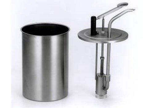 Bereila Professionele RVS sausdispenser groot - 3 Liter