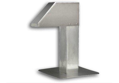 HorecaTraders Standard-Aluminium-Dachdurchführung   1 Ausgang