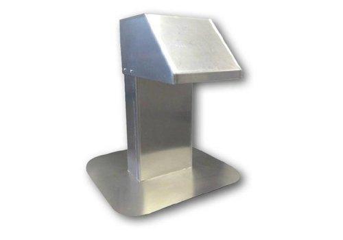 HorecaTraders Aluminium Dachdurchführung   breite Passage