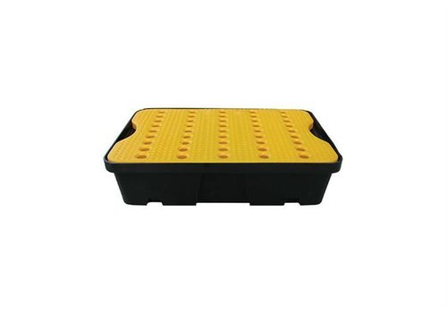 HorecaTraders Drip tray 600x400 mm - 20L - Including yellow wire rack