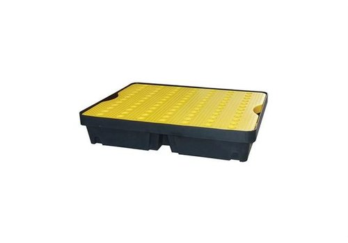 HorecaTraders Drip tray 800x600 mm - 40L - Including yellow wire rack