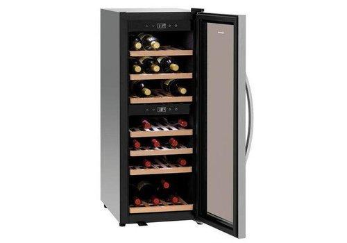 Bartscher Wine fridge 113 liters 2 Zones | Soundless Compressor 580x396x1030 (h) mm