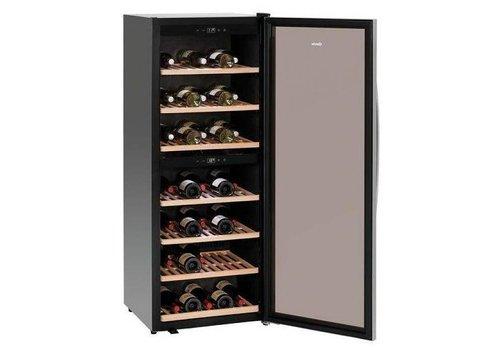 Bartscher Wijnkoelkast Zwart | Geluidloos Model | 2 Temperatuurzones | 595x625x1590(h)mm