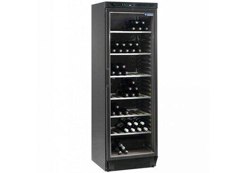 Diamond Wijnkoelkast | 380 liter - Glazen deur - Zwart - 595x595x(h)1940mm