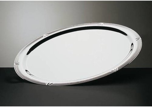 HorecaTraders Oval serving plate stainless steel