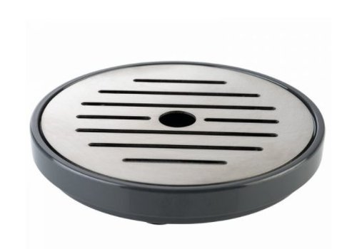 HorecaTraders Drip tray with stainless steel grid black