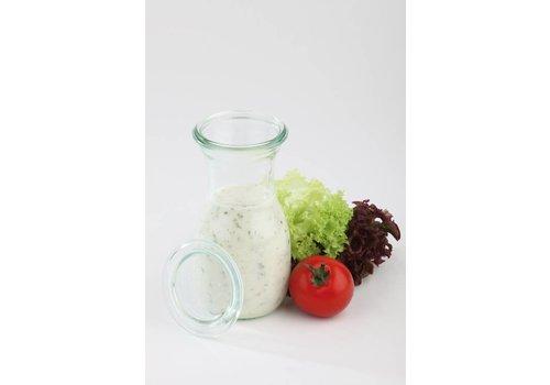 HorecaTraders Weck-Glasflaschen mit Deckel 00.25 L | 6 Stück