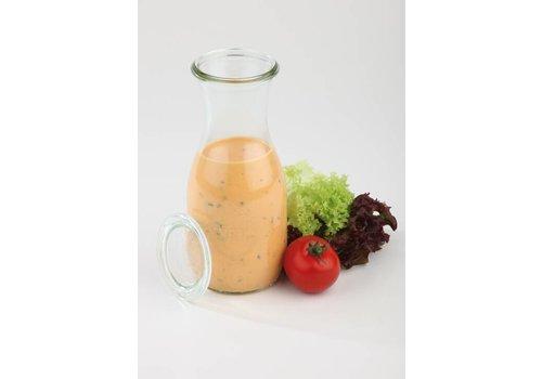 HorecaTraders Weck glazen flessen met deksel 0.50  L | 6 stuks