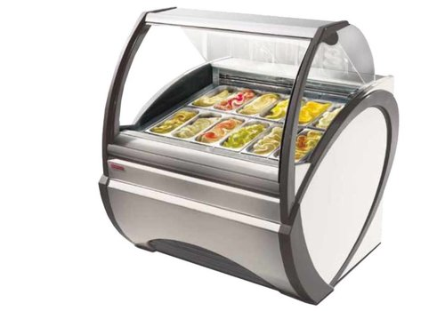 Oscartielle Vessel ice cream cabinet with forced air circulation 1790W | White