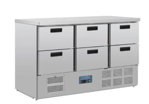 Polar Chilled saladette with 6 drawers