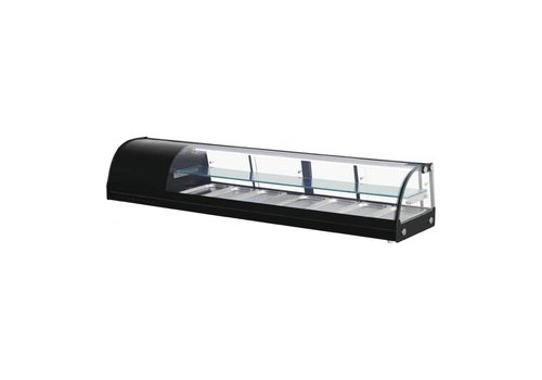 Polar Chilled Tapas Display Case 7 x GN1 / 3