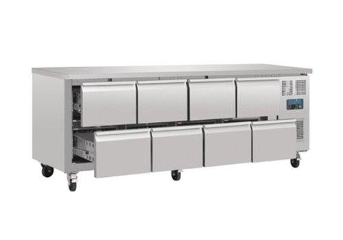 Polar Belüftetes Gekühlte CN Werkbank mit 8 Schubladen