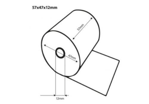 HorecaTraders Thermische bonrollen | 57x47x12 mm | 50 stuks