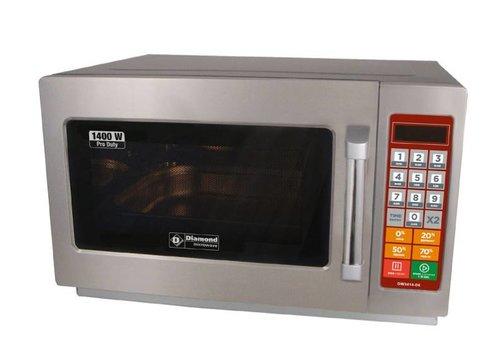 Diamond Stainless steel digital microwave