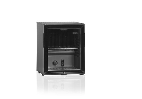 Diamond Kleine Getränke Kühlschrank mit Glastür - 32 Liter - Stahl - SILENT