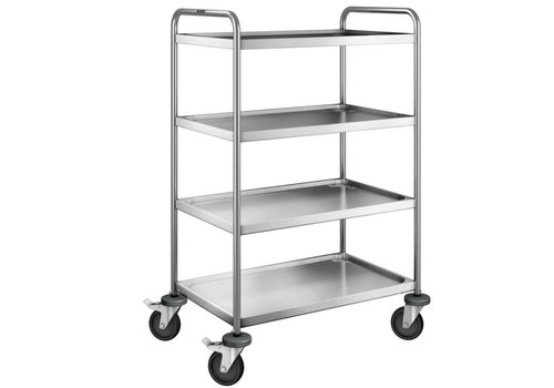 Blanco Stainless steel serving trolley 4 plateaus 90x60x129 cm