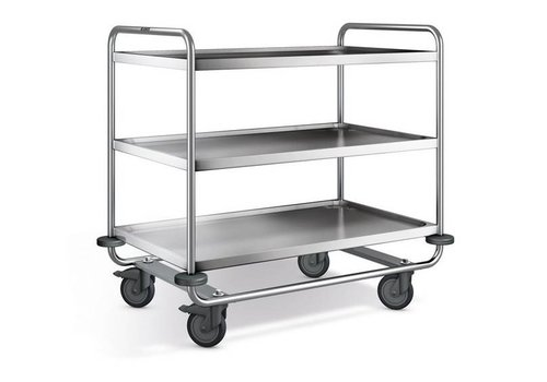 Blanco Stainless steel serving trolley 3 plateaus 110x70x101 cm