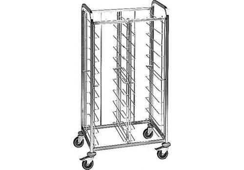 Blanco Stainless steel tray trolley 20 trays 94x63.5x167.8 cm