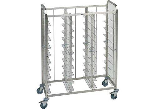 Blanco Stainless steel tray trolley 30 trays 134.5x63.5x167.8 cm
