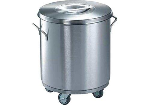 Blanco RVS Afvalcontainer 50 Liter | Ø 43x49,5 cm