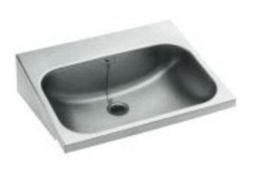 Handwaschbecken aus Edelstahl | 55x45x15 cm