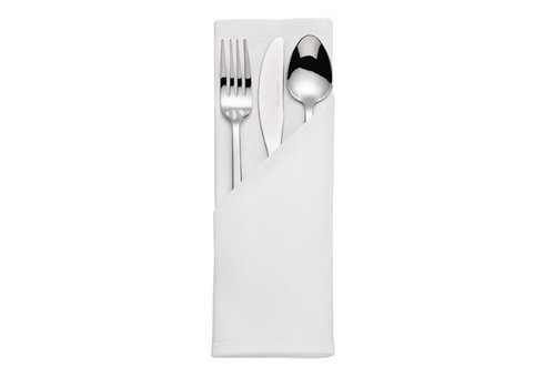 HorecaTraders Cotton Napkin White Satin | 55 x 55 cm