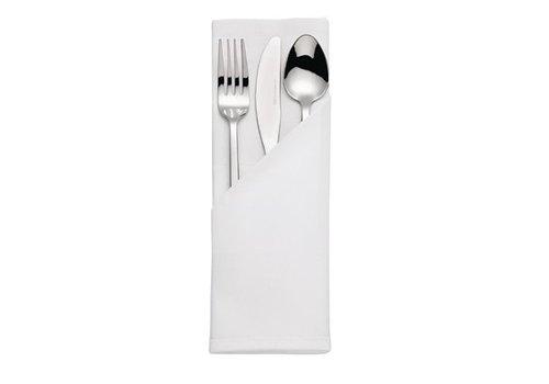 HorecaTraders Katoen Servet Wit | Satin | 55 x 55 cm (10 stuks)