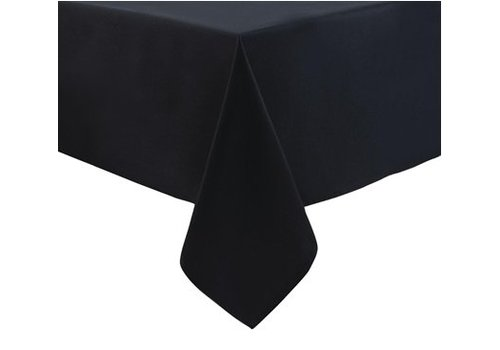 HorecaTraders Polyester Tafelkleed | Zwart | Klassiek