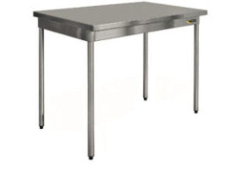 HorecaTraders Edelstahl Tisch auf Beinen 60 cm tief 7 Formate