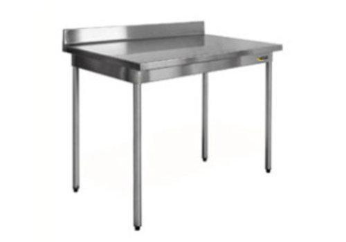 HorecaTraders Stainless steel work table on legs 60 cm deep Demountable 8 formats