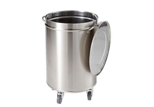 Sofinor Round stainless steel waste bin | 50 liters